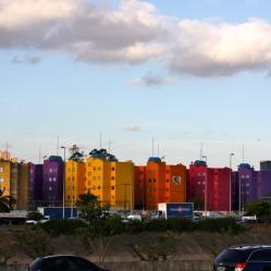 Buildings on Sao Paulo roadway
