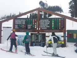 Yes there are slopes open in May! ...in Canada. Top of a really big hill.